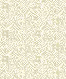 Seamless royal golden wallpaper Royalty Free Stock Photos