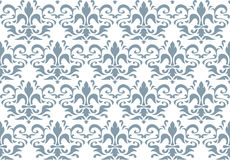 Seamless Royal lily wallpaper. Colored Royalty Free Stock Image