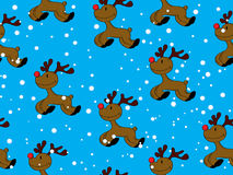 Seamless Rudolph Stock Image