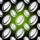 Seamless rugby balls Stock Photo