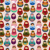 Seamless Russian doll pattern Royalty Free Stock Images