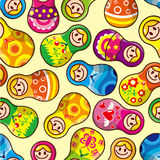 Seamless Russian doll pattern. Vector drawing Royalty Free Stock Images