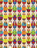 Seamless Russian doll pattern Royalty Free Stock Photography