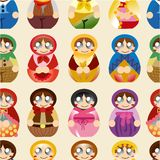 Seamless Russian doll pattern Stock Photography