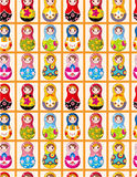 Seamless Russian dolls pattern Stock Photo
