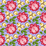 Seamless russian floral pattern Royalty Free Stock Photos