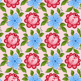 Seamless russian floral pattern Royalty Free Stock Image