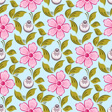Seamless russian floral pattern Royalty Free Stock Photography