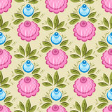 Seamless russian floral pattern Stock Images