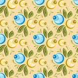 Seamless russian floral pattern Stock Image