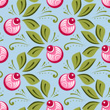 Seamless russian floral pattern Stock Photography