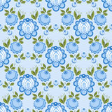 Seamless russian floral pattern Royalty Free Stock Images