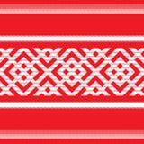 Seamless russian pattern. Seamless red fabric russian pattern Royalty Free Stock Photography
