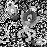 Seamless russian pattern.orient or paisley design.  illust Stock Photography