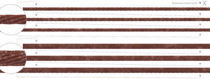 Seamless rust cable repeatable wire rope Royalty Free Stock Photo