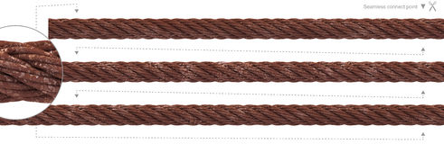 Seamless rust cable repeatable wire rope. Isolated old rustic heavy duty wire cable. 3D rendering rusty steel rope extendable could repeat seamlessly. PNG with Royalty Free Stock Images