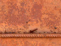 Seamless rust metal texture. Seamless rust corrosion metal texture with armature. Brown-red color Stock Photos