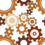 Seamless rusty cogwheel pattern. Factory background Royalty Free Stock Image