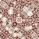 Seamless rusty cogwheel pattern. Royalty Free Stock Images