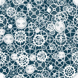 Seamless rusty cogwheel pattern. Royalty Free Stock Photo