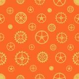 Seamless rusty cogwheel pattern Royalty Free Stock Photos
