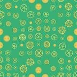 Seamless rusty cogwheel pattern Stock Photo