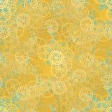 Seamless rusty cogwheel pattern Stock Photos