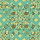 Seamless rusty cogwheel pattern Royalty Free Stock Images