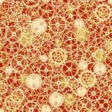 Seamless rusty cogwheel pattern Royalty Free Stock Image