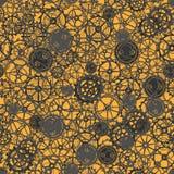 Seamless rusty cogwheel pattern. Stock Photos