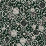 Seamless rusty cogwheel pattern. Royalty Free Stock Image