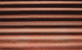 Rusty corrugated metallic sheet pattern stock photo