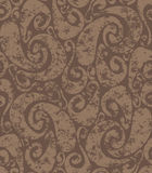 Seamless rusty swirls pattern Stock Image
