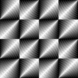 Seamless Сrystal Pattern. Vector Black and White Cloth Texture Royalty Free Stock Photo