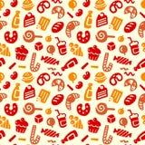 seamless sötsaker för modell Arkivfoton