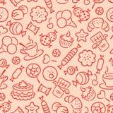 seamless sötsaker för modell vektor illustrationer