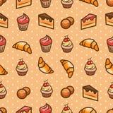 seamless sötsaker för modell stock illustrationer