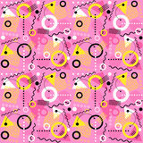 Seamless 1980s inspired memphis pattern. Retro seamless 1980s inspired memphis pattern background. vector illustration for backgrounds, paper, fabric patterns Stock Photos