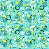 Seamless 1980s inspired memphis pattern. Retro seamless 1980s inspired memphis pattern background. vector illustration for backgrounds, paper, fabric patterns Stock Photography