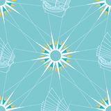 Seamless Sailing Pattern Royalty Free Stock Photo