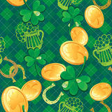 Seamless Saint Patrick day pattern Royalty Free Stock Photography
