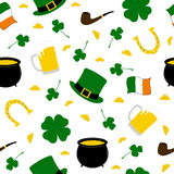 Seamless Saint Patrick's background Royalty Free Stock Photography