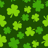 Seamless Saint Patrick s day pattern with green clover Royalty Free Stock Images