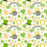 Seamless Saint Patricks Day Background Stock Images