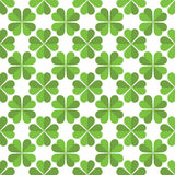 Seamless Saint Patricks day clover background. Royalty Free Stock Images