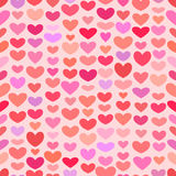 Seamless Saint Valentine heart pattern Royalty Free Stock Photo