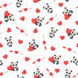 Seamless Saint Valentine's Day pattern Royalty Free Stock Photos