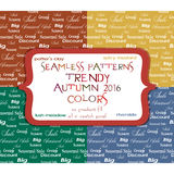 Seamless sale patterns in four colors Royalty Free Stock Photos