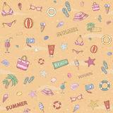 Seamless sammer pattern. Royalty Free Stock Photos