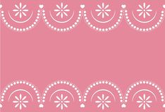 Seamless sample a border with a pattern lace. Vector illustration. It can be used as a background for the websites, packing, fabrics Royalty Free Stock Image